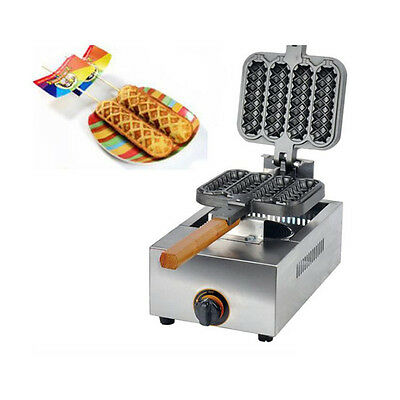 New Waffle Maker Baking Machine 4pcs/time Non-stick LPG Gas Lolly Commercial Use