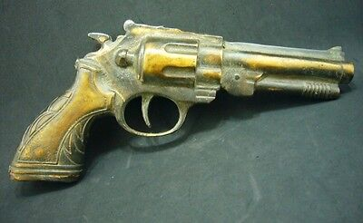 Chinese Carved Exceptional Fancy Armyman Hand Gun Handicraft Bronze Templet