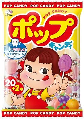 Fujiya Pop Candy 21 piece Peco Chan 1 pack Free Postage From Japan F/S