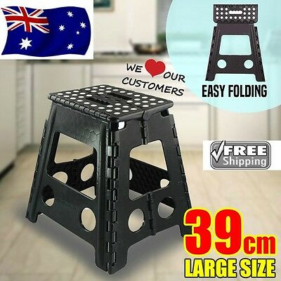 Step Stool Folding Chair Home Kitchen Foldable Carry Storage Multi Purpose 39cm