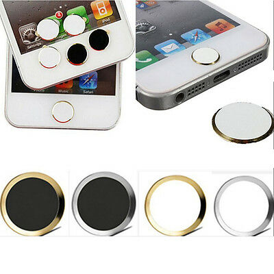 New Aluminium Metal Home button Stickers For iPhone 5S 6/6 plus CC