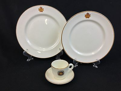 Royal Doulton Canadian National Railroad CN Demitasse Cup Dinner Luncheon Plate