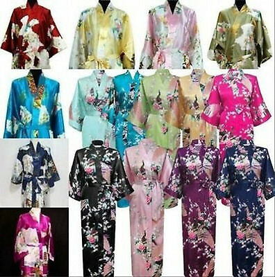 2016 New Style Chinese Women's Kimono Robe Gown Clubs With Obi Evening Nightwear