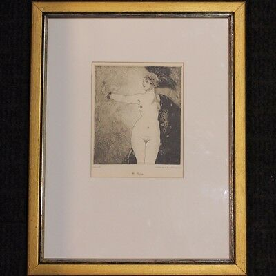 Norman Lindsay Facsimile Etching The Ring Limited Edition NO 213