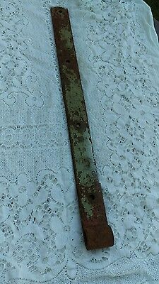 "Antique Hand Forged Cast Iron Barn Strap Hinge, 27"" x 2"""