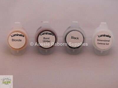 Luminaire Air Dry BROW SET of 4 - Perfect for any Reborn Baby application