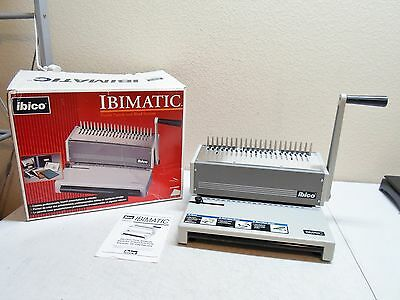 Ibico Ibimatic Comb Punch Binding Machine W/Trash Tray,Box,and Instructions