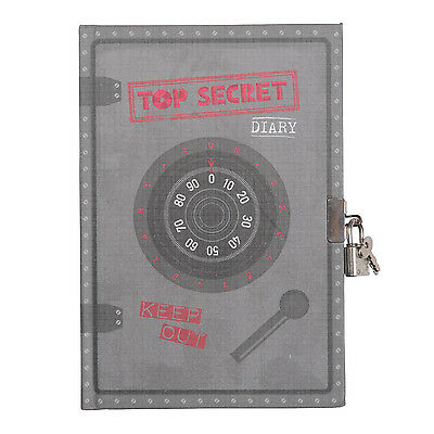 Lockable Diary for Boys,Tiger Tribe Top Secret Diary with lock and keys