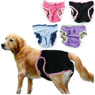Reuseable Female Pet Dog Pants Pads Menstrual Sanitary Nappy Diaper XS-XL 5 Size