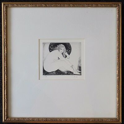 Norman Lindsay Facsimile Etching The Anklet Limited Edition NO 155