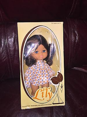 Vintage Lity / Lily? Doll W Rooted Hair / Movable Arms & Legs In Original Box
