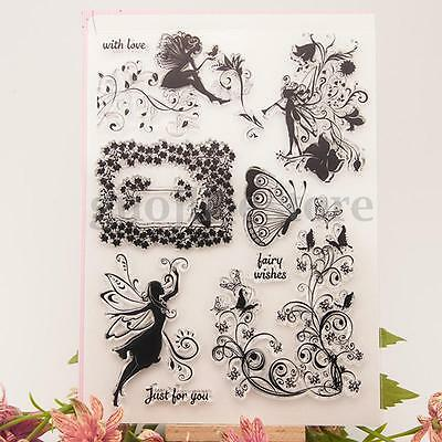 Flower Fairy Silicone Christmas Clear Stamp Seal Scrapbooking Diary Card Craft