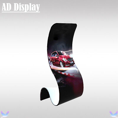 Tension Fabric Snake Promotional Banner Display Stand With Single Side Printing