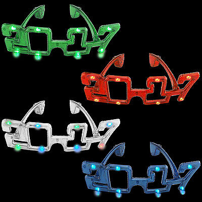 2017 Flashing LED Glasses Night Light For New Year Masquerade Mask Party
