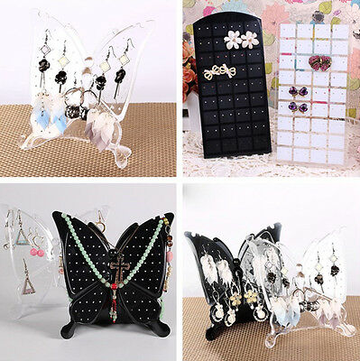 72/96 holes Acrylic Butterfly Jewellery Earring Display Stand Holder Ear Studs