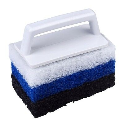 SUPER SCRUBBER CLEANER  3 in 1 Brush For Pool & Spa With 3 Changing Type Of Pad