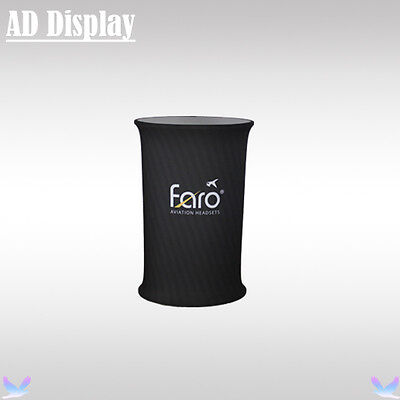 Tension Fabric Counter Display With Banner Printing,Portable Exhibition Table