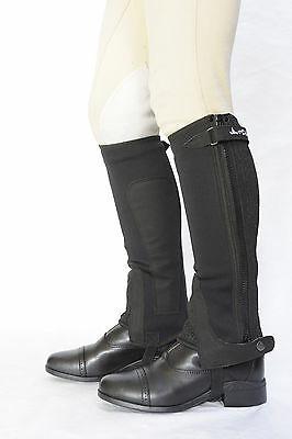 Just Chaps Adult All-Purpose Neoprene Riding Half Chaps - 15% OFF BLK/BRN