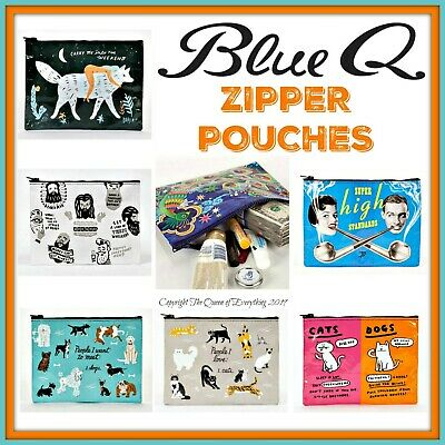Buy 1 Get 1 50% OFF Blue Q ZIPPER Pouch Travel Purse Makeup Organizer FREE SHIP