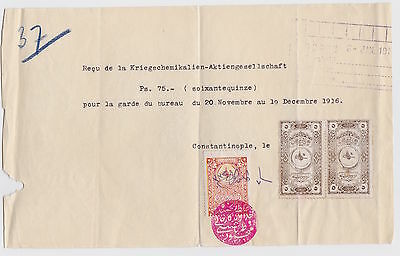 Turkey Inches/Tax Stamps Old Ottoman Revenue Fiscal Stamps on large Document