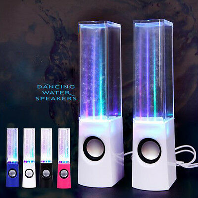 Dancing Water Show Stereo Music Fountain Light Computer Speakers for PC Laptop