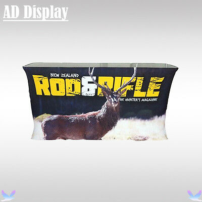 Folding Rectangular Table With Banner Printing,Exhibition Advertising Podium