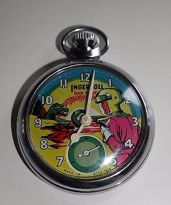 Vintage Dan Dare Eagle Ingersoll Pocket Watch Very Rare Space Made in Gt Britain