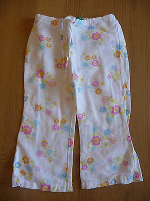 Beautiful Girls Linen United Colours of Benetton Bottoms Floral Design Age 2Yrs