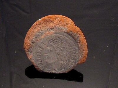 Ancient Rome, c. 340 - 360 AD. Clay counterfeiter's mould #1