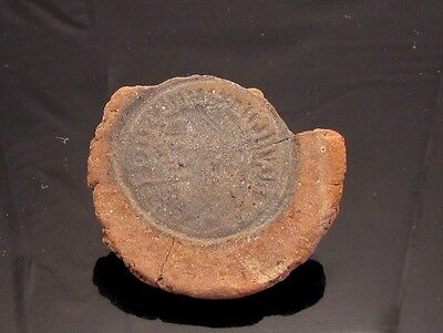 Ancient Rome, c. 340 - 360 AD. Clay counterfeiter's mould #7