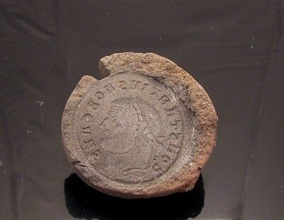 Ancient Rome, c. 340 - 360 AD. Clay counterfeiter's mould #8