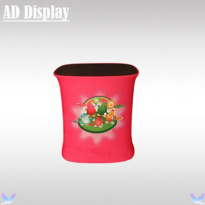 Advertising Square Table Podium Display With Banner Printing,Exhibition Counter