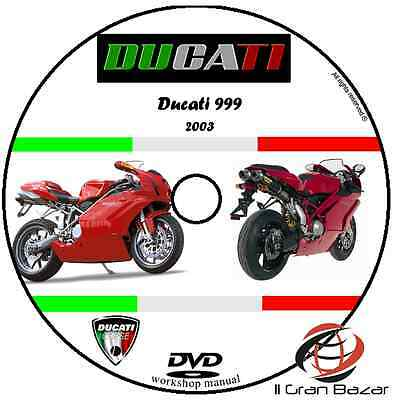 Manuale Officina Ducati 999 My 2003 Workshop Manual Service Cd Dvd