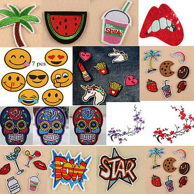 Embroidery Sew Iron On Patch Badge Bag Clothes Fabric Applique Set