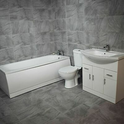 Onega Modern Bathroom Suite Vanity Sink Basin Unit Choice of Size Bath