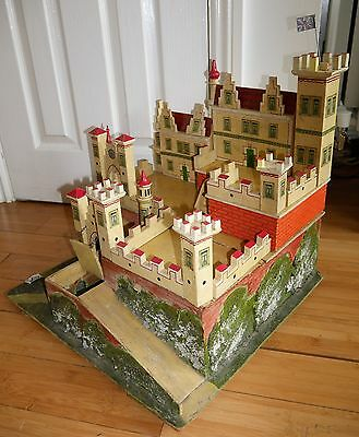 ANTIQUE TOY FORT CASTLE EARLY 20th CENTURY PRE WW1 VERY RARE GERMAN HANDMADE