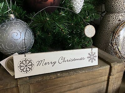 Heaven Sends shabby chic wooden Merry Christmas sign 20cm