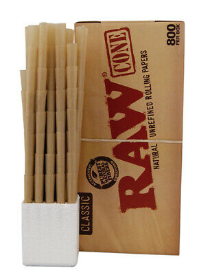 1 Box (800x) RAW Cones Classic King Size 800er Box vorgerollt pre-rolled