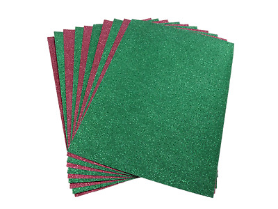 A4 Red & Green Glitter Card
