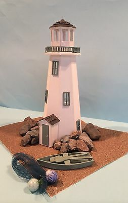 "Dolls house lighthouse kit 1/4"" Scale 1/48th With 10 Piece Furniture Set."