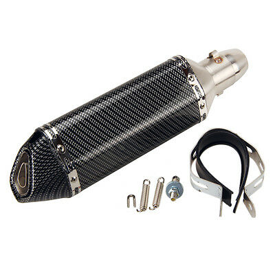 38-51mm Carbon Fiber Motorcycle Silencer Exhaust Muffler With Pipe DB Killer
