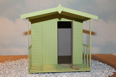 "Dolls house Calshot Beach Hut Chalet Kit 1/4"" scale 1/48th"