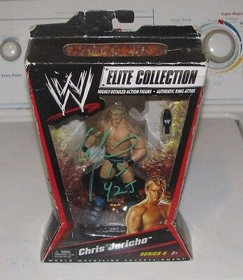 WWE Mattel Elite Collection CHRIS JERICHO Signed Wrestling Figure WWF WCW ECW