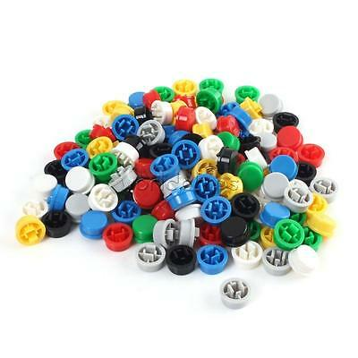 140PCS Square Mixed Color Tactile Button Caps Kit For 12×12×7.3mm Tact Switches