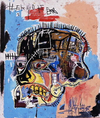 Jean Michel Basquiat Head Giclee Canvas Print Paintings Poster Reproduction