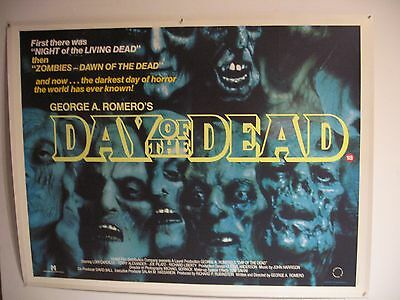 DAY OF THE DEAD - George Romero -  linen backed original film / movie poster
