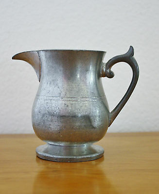 Vintage Woodbury Pewter Pitcher Creamer Colonial Style Pewterers