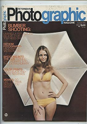 Old August 1973 Petersen's Photographic Magazine