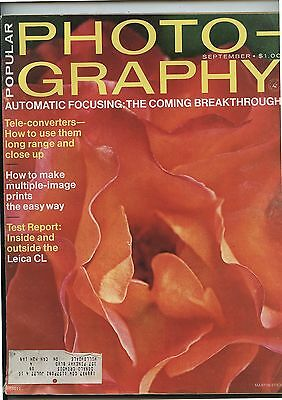 Old September 1974 Popular Photography Magazine