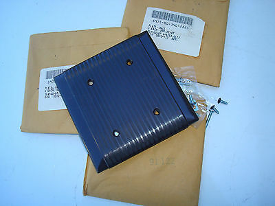 New old stock vintage 2 gang brown blank wall outlet plate cover with lines